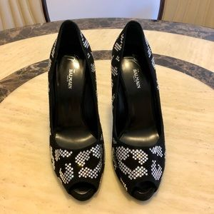 BALMAIN Crystal Embellishments Pumps Sz-8.5/9/9.5
